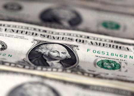 FILE PHOTO: U.S. dollar notes are seen in this picture illustration