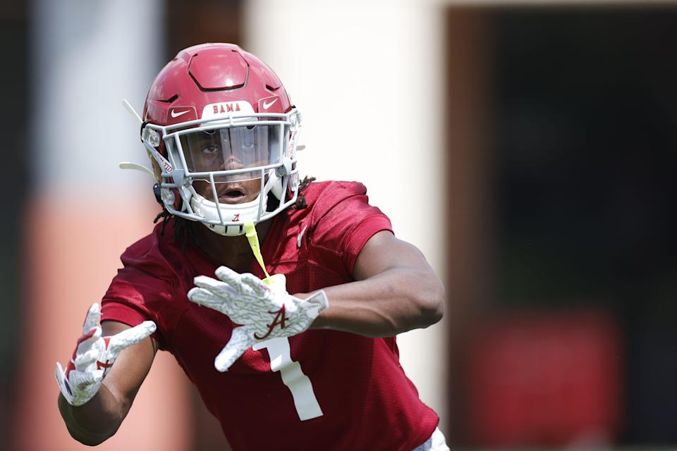 Alabama defensive back Kool-Aid McKinstry participates in a preseason practice on Aug. 7. McKinstry, who signed with Alabama as a five-star recruit, announced an endorsement deal with the Kool-Aid brand on Aug. 18.