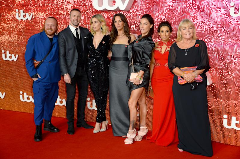 (left to right) Leigh Francis, Paddy McGuinness, Stacey Solomon, Andrea McLean, Katie Price, Saira Khan and Linda Robson attending the ITV Gala 2017 held at the London Paladium, London. Photo credit should read: Doug Peters/EMPICS Entertainment