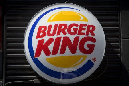 A Burger King logo is pictured in the Brooklyn borough of New York