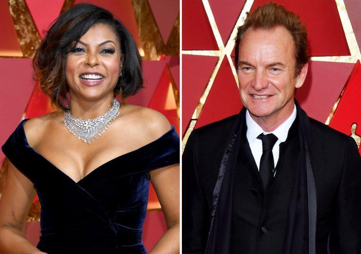 Sting is a big fan of Taraji P. Henson. (Credit: Getty Images)