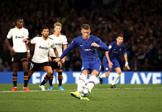 Ross Barkley misses a penalty for Chelsea. (Credit: Getty Images)
