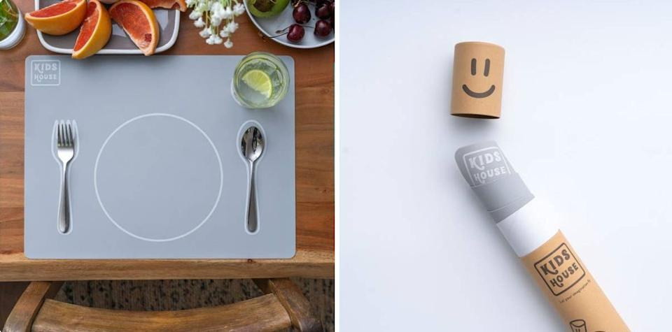 """This Montessori table setting will show your kiddo how to set up utensils before dinner. Involve them in dinner prep and watch them eat more than ever before! (BTW, this woman-owned business is based in London.)<br /><br /><strong>Promising review:</strong>""""This is top-notch. These placemats are exceptional both in terms of design and functionality. I have three very young kids and have tried out quite a few versions, and these are by far my favorite. I bought one for every family member and it was so worth it.<strong>The simple, clean design is very appealing and the Montessori idea of enabling young kids to help with setting the table independently works great.</strong>And choosing silicone as the material is just genius — it looks great, cleans up super easy, and stays on the table nicely. And if someone were to knead it, or fold it, it bounces right back into its original shape. In addition, I had a specific request regarding handling, and the seller couldn't have been more thorough, thoughtful, and friendly. It truly was a pleasure doing business with this shop. Thank you!"""" — Art23<br /><br /><strong>Get it from<a href=""""https://go.skimresources.com?id=38395X987171&xs=1&url=https%3A%2F%2Fwww.etsy.com%2Fshop%2FKidsHouseUK&xcust=HPToddlerMealtime60885fbae4b0ccb91c2ac430"""" target=""""_blank"""" rel=""""noopener noreferrer"""">Kids House UK</a>on Etsy for<a href=""""https://go.skimresources.com?id=38395X987171&xs=1&url=https%3A%2F%2Fwww.etsy.com%2Flisting%2F870720522%2Fmontessori-toddler-silicone-mealtime&xcust=HPToddlerMealtime60885fbae4b0ccb91c2ac430"""" target=""""_blank"""" rel=""""noopener noreferrer"""">$23.20</a>.</strong>"""