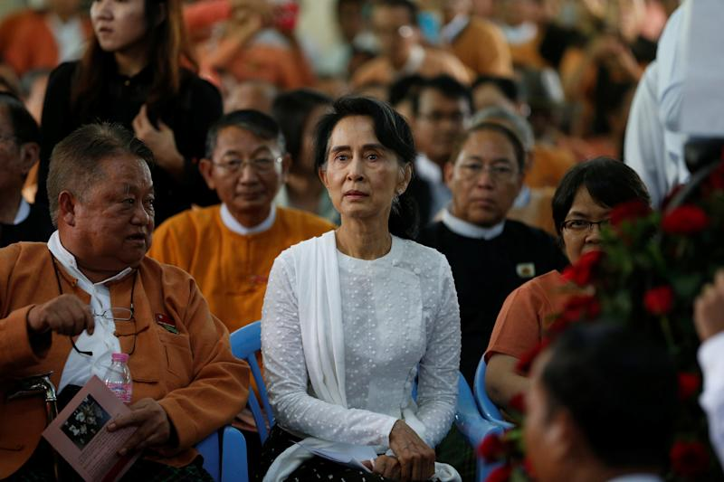 Myanmar State Counselor Aung San Suu Kyi, the country's de facto leader, has been criticized for remaining silent about the violence facing the Rohingya minority.  (Soe Zeya Tun/Reuters)