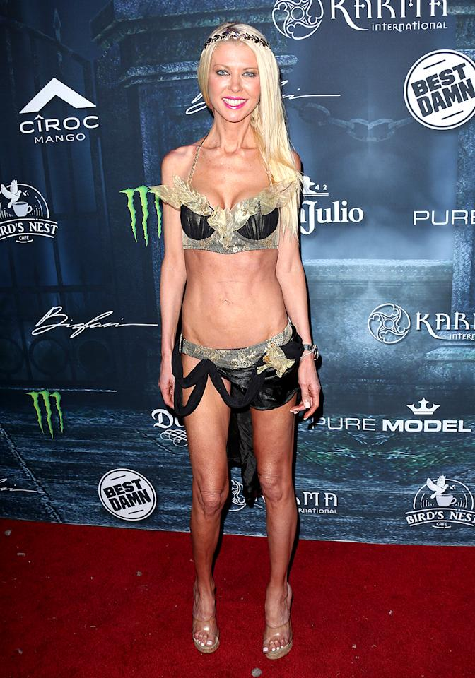 "<p>Can you guess what the <i>Sharknado</i> actress is supposed to be in what has to be one of <a rel=""nofollow"" href="" https://www.yahoo.com/celebrity/tara-reid-wears-super-skimpy-191400890.html"">the tiniest costumes ever?</a> We couldn't either, but thankfully, Reid explained on social media that she dressed as a Greek goddess. (Photo: Paul Archuleta/FilmMagic) </p>"