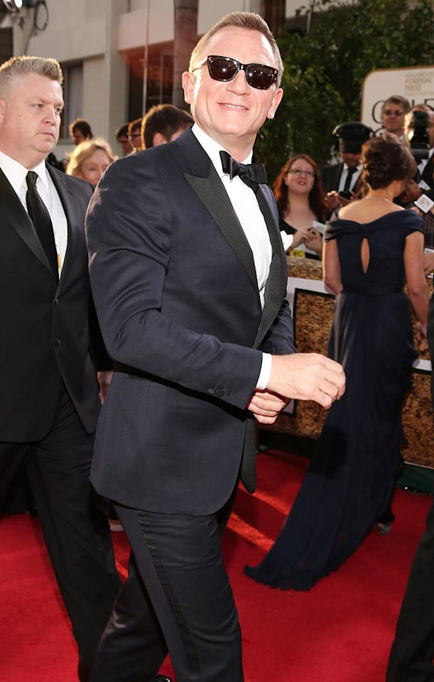Daniel Craig arrives at the 70th Annual Golden Globe Awards at the Beverly Hilton in Beverly Hills, CA on January 13, 2013.