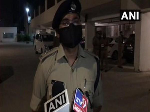 Harish Chandra, DCP of Central Noida speaks to media in Greater Noida [Photo/ANI]