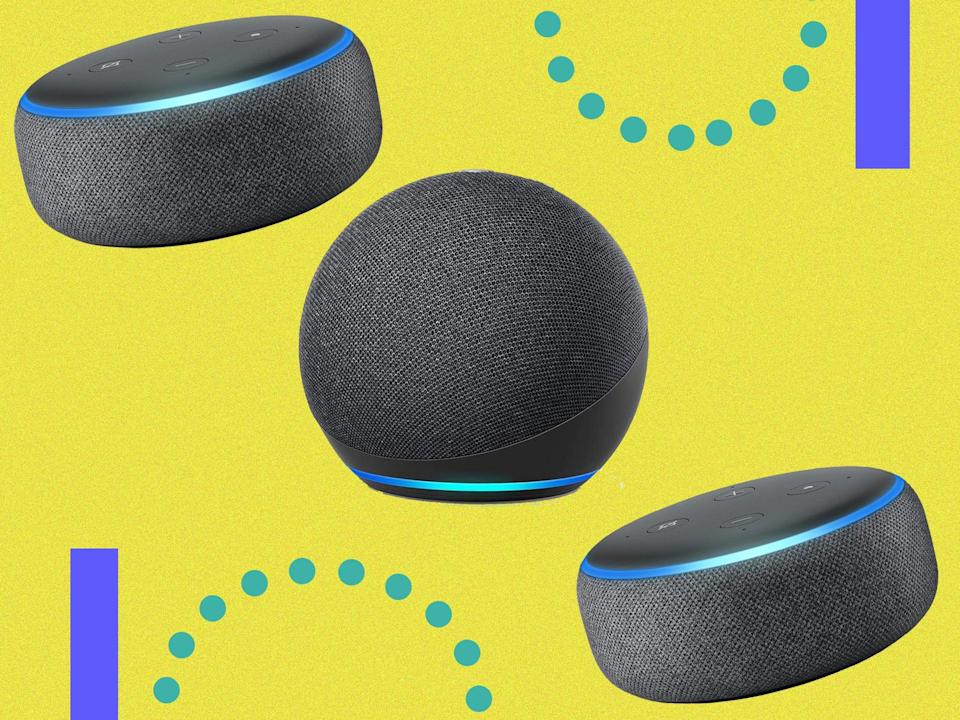 <p>There's deals to enjoy on both versions of the smart speaker</p> (The Independent/Amazon)