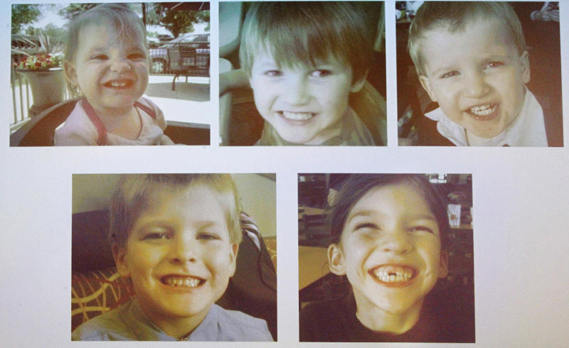 Pictured are the five murdered Jones children – Merah, 8, Elias, 7, Nahtahn, 6, Gabriel, 2, and Elaine, 1, murdered by their father Tim Jones, in Lexington, South Carolina.