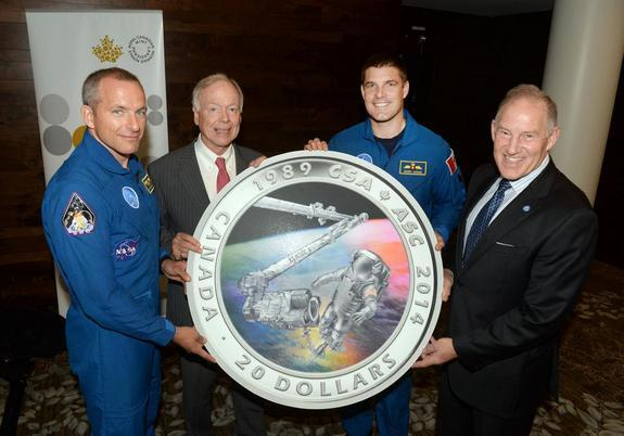 Hologram Coin Celebrates Canadian Space Agency's 25-Year Legacy