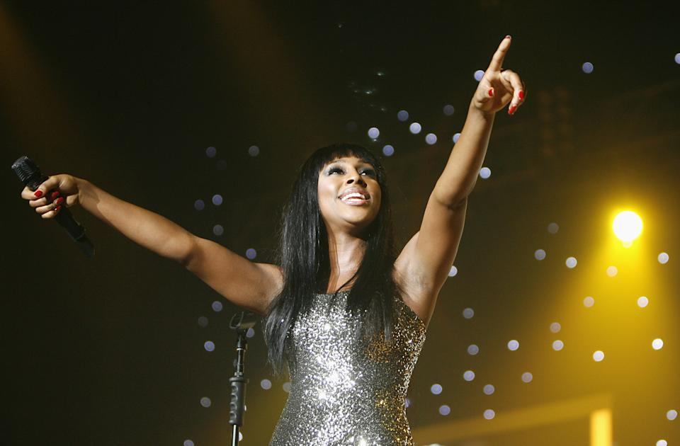 Alexandra Burke performs during The X Factor Live Tour at Wembley Arena, London.