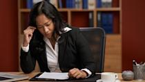 """<p><strong>Median salary:</strong> $<span>119,250</span></p> <p>A career at a major law firm usually means working a lot of overtime. That often means you need to say goodbye to weekends and hello to missing out on significant life events, such as a family vacation or school plays — <a href=""""https://www.gobankingrates.com/making-money/jobs/lawyer-salary-by-state/"""" rel=""""nofollow noopener"""" target=""""_blank"""" data-ylk=""""slk:no matter what state you work in."""" class=""""link rapid-noclick-resp"""">no matter what state you work in.</a></p> <p>""""Whether lawyers are just starting out or have worked their way up the law firm career ladder, it can be difficult to achieve work-life balance due to the pressure of meeting billable hours requirements and the immediate demands of clients or caseloads,"""" Good said.</p> <p>The industry is looking up for lawyers, however. According to Good, law firms are offering more programs, such as flex-time, reduced schedules and telecommuting to help their employees achieve greater work-life balance.</p> <p>""""Some law firms are offering non partnership-track positions — career associate or staff attorney, to name a couple — that require less travel, lower billable hours targets and no staff management or business development requirements,"""" he said.</p>"""
