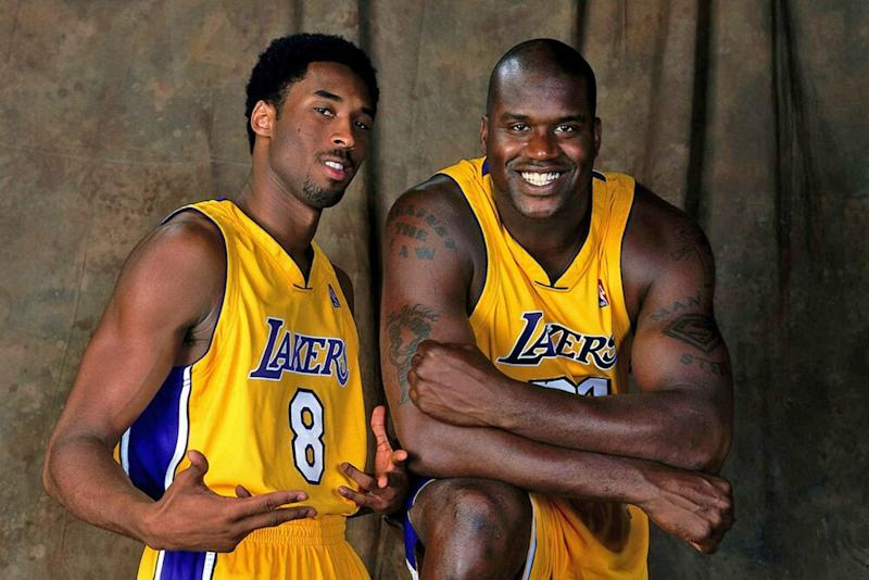 Kobe Bryant and Shaquille O'Neal | Andrew D. Bernstein/Getty Images