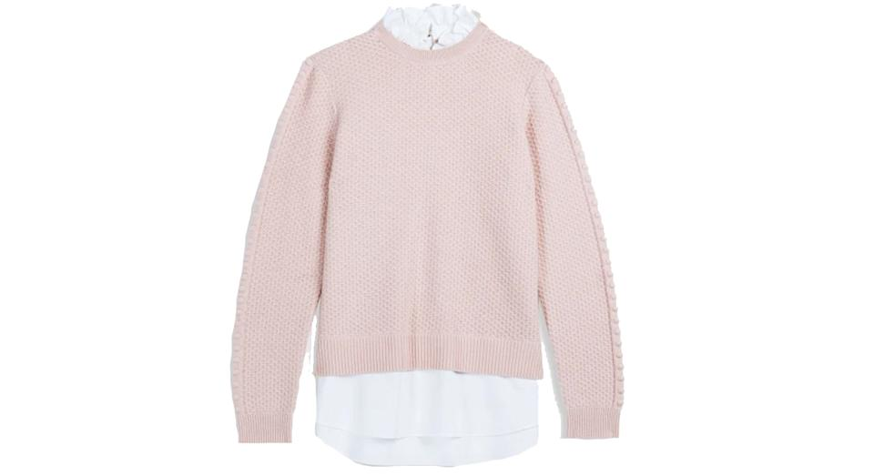 TEAGGAN Frill detail mockable jumper