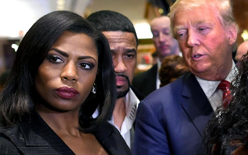 Omarosa Manigault-Newman, pictured with Donald Trump in November 2015 - AFP