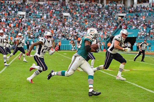Kenyon Drake sealed the final play 'Miracle in Miami' to down the New England Patriots