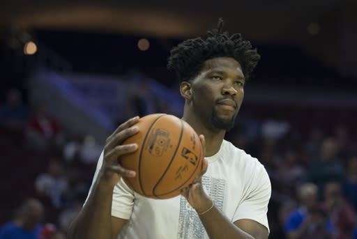 Joel Embiid has played 31 games since being drafted in 2014. (Getty Images)