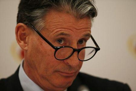 <p>Britain Athletics – IAAF Press Conference – London Marriott Hotel, West India Quay, Canary Wharf – 13/4/17 IAAF President Sebastian Coe during the press conference Action Images via Reuters / Paul Childs/ Livepic/ Files </p>