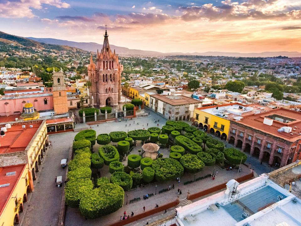 """Voted the <a href=""""https://www.cntraveler.com/galleries/2014-10-20/top-25-cities-in-the-world-readers-choice-awards-2014?mbid=synd_yahoo_rss"""" rel=""""nofollow noopener"""" target=""""_blank"""" data-ylk=""""slk:best small city in the world"""" class=""""link rapid-noclick-resp"""">best small city in the world</a> for 2020, San Miguel de Allende's appeal extends beyond its Spanish Colonial architecture and colorful facades. A hub for expat artists, this highland city features a diverse and gregarious class of locals—although its far-from-the-coastline location has helped the area remain insulated and authentically Mexican. Take your pick from more than 350 restaurants ranging from five-star restaurants to local mom-and-pop eateries, then take a step back in time with a stroll along the well-preserved cobblestone streets."""