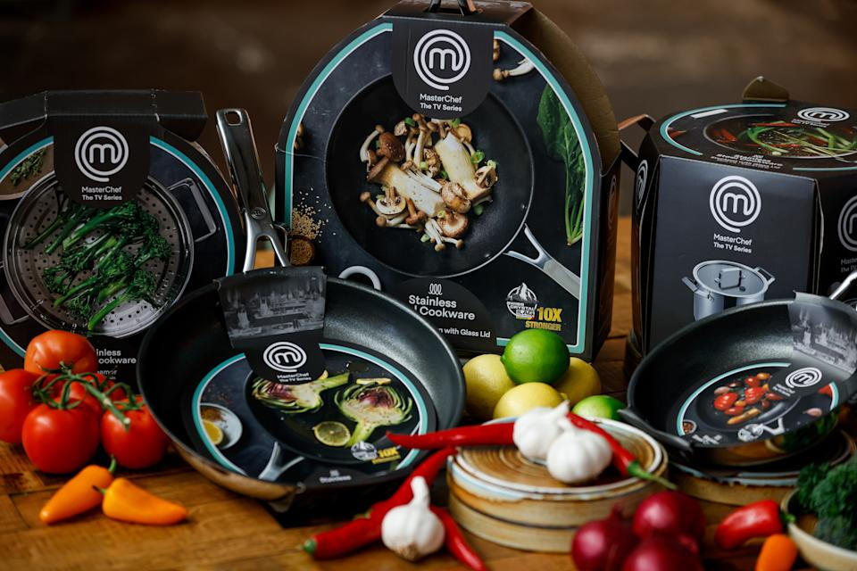 MasterChef stainless steel cookware range. Source: Getty Images
