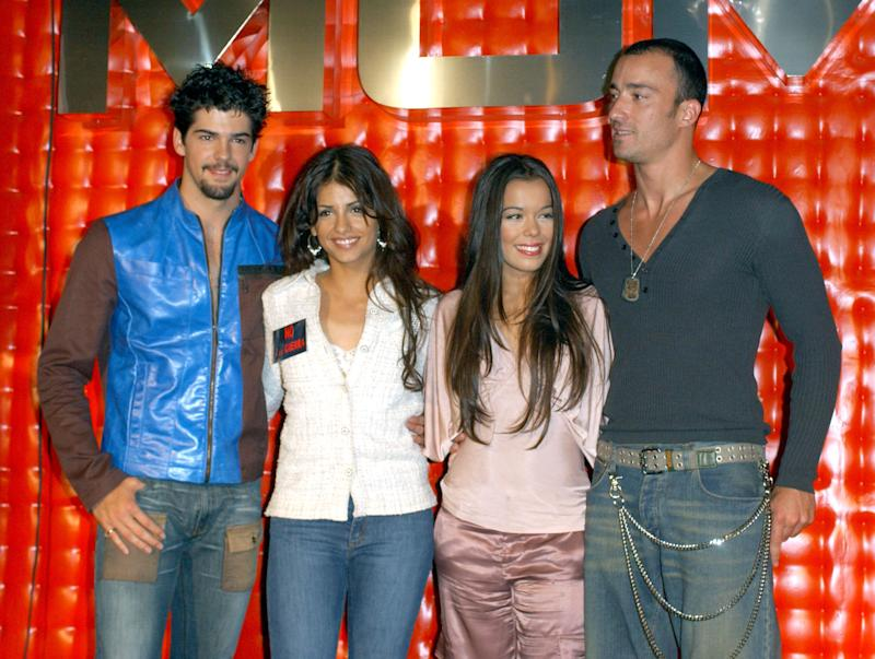 Monica Cruz and UPA Dance during Press Conference with Monica Cruz and Her Band UPA Dance to Announce Their Summer 2003 Tour at MOMA Club in Madrid, Spain. (Photo by Lalo Yasky/WireImage)