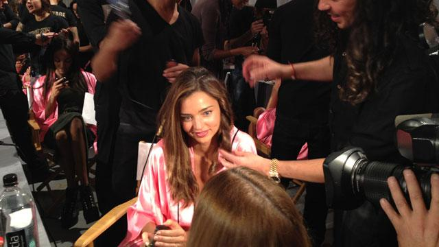 Backstage at the Victoria's Secret Show (ABC News)