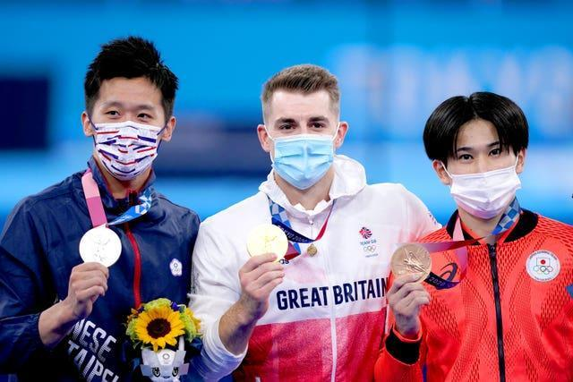 Max Whitlock with his fellow medallists