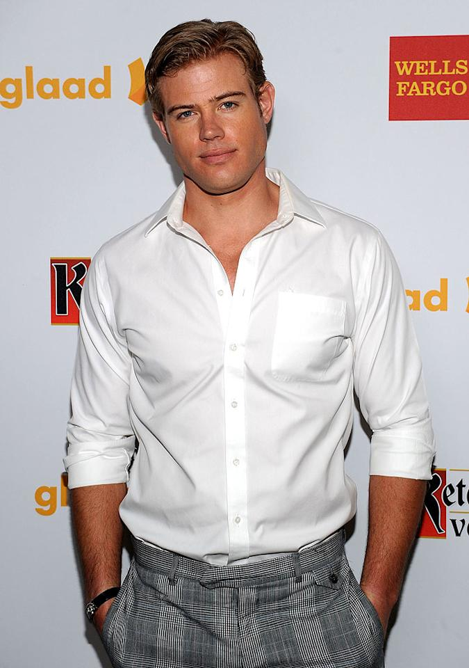 "<p class=""MsoNormal"">Trevor Donovan, who left the jacket at home, looked handsome as always. The actor has his youthful good looks to thank in part for landing the role of a high school student on the CW series ""90210"" when he was actually 30 years old! </p>"