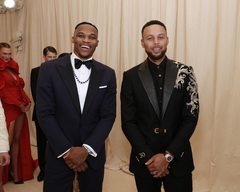 Russell Westbrook and Stephen Curry.