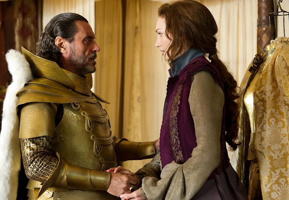 """Ian McShane and Eleanor Tomlinson in Warner Bros. Pictures' """"Jack the Giant Slayer"""" - 2013"""