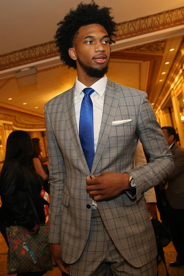 CHICAGO, IL - MAY 15: NBA Draft Prospect Marvin Bagley is photographed prior to the NBA Draft Lottery on May 15, 2018 at The Palmer House Hilton in Chicago, Illinois. (Photo by David Sherman/NBAE via Getty Images)