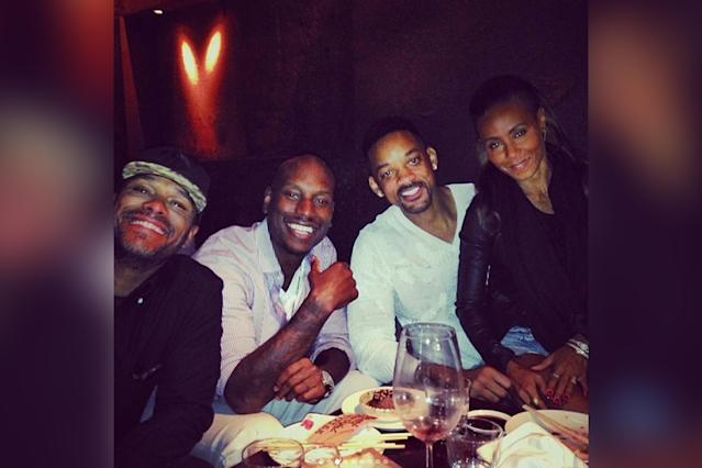 Tyrese shares photos of Will and Jada Pinkett Smith on social media. (Photo: @tyrese/Instagram)