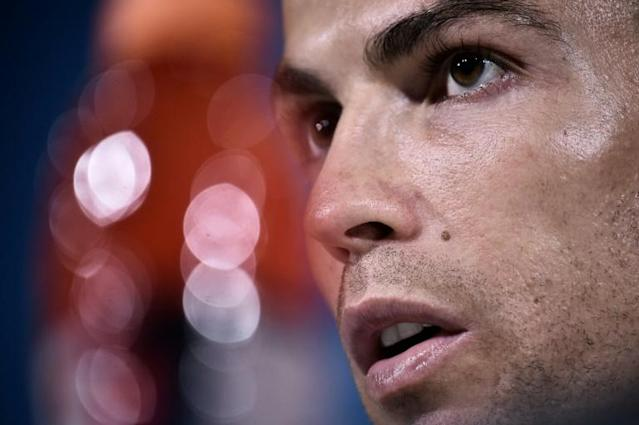 Juventus' Portuguese forward Cristiano Ronaldo looks on during a press conference in Turin, Itlay (AFP Photo/Marco BERTORELLO )
