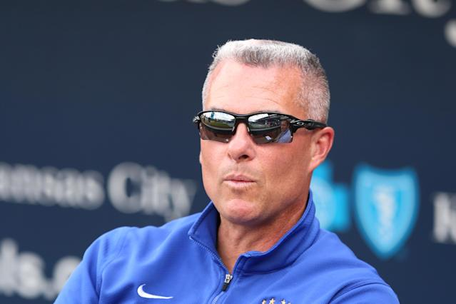 Kansas City general manager Dayton Moore is devoutly religious. (Getty)