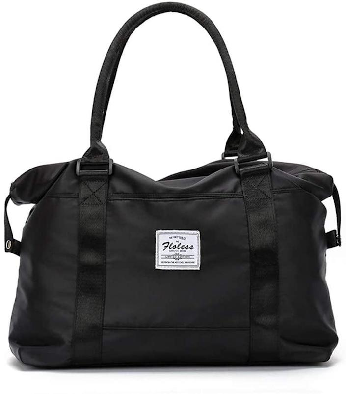 <p>The <span>Sonto Women's Sports Gym Bag</span> ($23) is water-resistant and has multiple pockets. It's not only great for the gym but also for travel. </p>