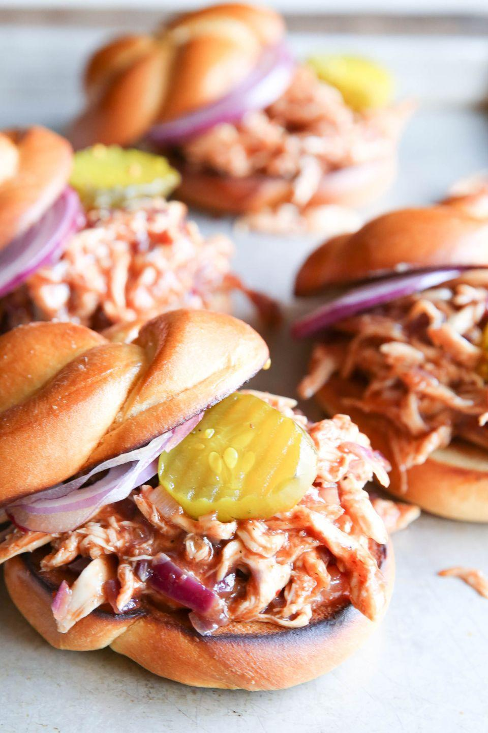 """<p>Waiting for summer for BBQ chicken was not going to happen.</p><p>Get the recipe from <a href=""""https://www.delish.com/cooking/recipe-ideas/recipes/a51339/bbq-pulled-chicken-sandwiches-recipe/"""" rel=""""nofollow noopener"""" target=""""_blank"""" data-ylk=""""slk:Delish"""" class=""""link rapid-noclick-resp"""">Delish</a>.</p>"""