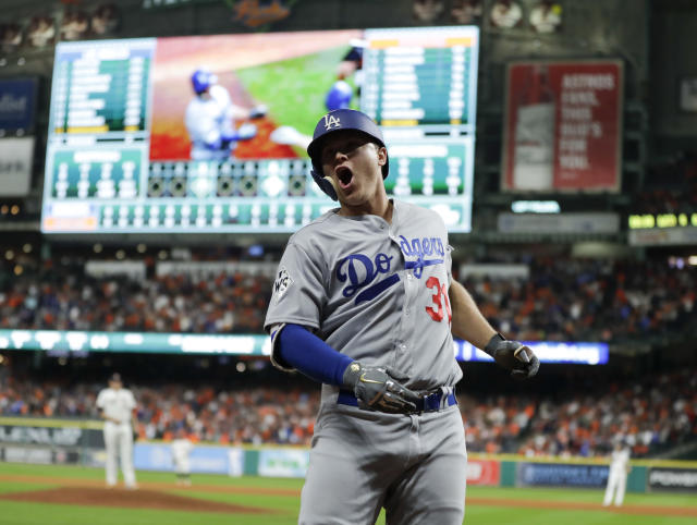 Joc Pederson was so pumped about his World Series homer that he broke out Kirk Cousins' catchphrase. (AP)