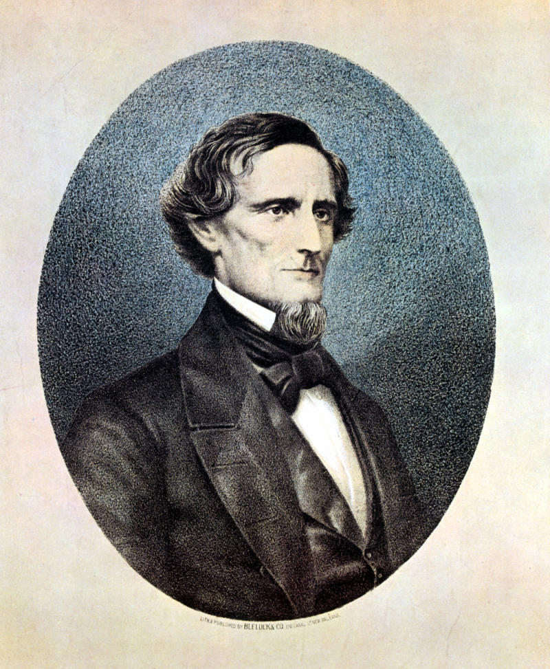The school had been named for Jefferson Davis, the only president of the Confederate States of America. (Print Collector via Getty Images)