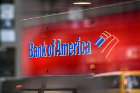 FILE PHOTO: A Bank of America logo is seen in New York City