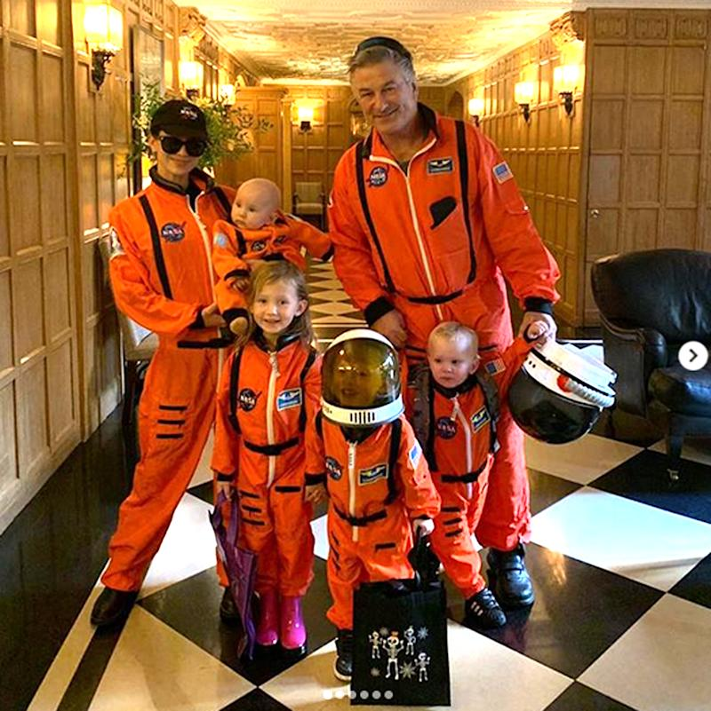 b3b493c5 Alec and Hilaria Baldwin Have a Blast Dressing Up Their Kids in Astronaut  Costumes for Halloween