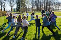 The government is encouraging schools that are allowed to do so to hold all kinds of classes outside