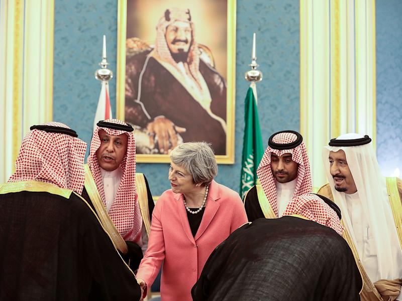 MPs and humanitarian groups have criticised the the PM's recent Saudi visit due to the country's human rights abuses, including in the war in Yemen, which has killed over 10,000 civilians: Getty