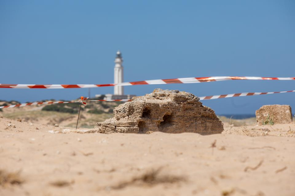The structure found by archaeologists on the Cadiz coast.