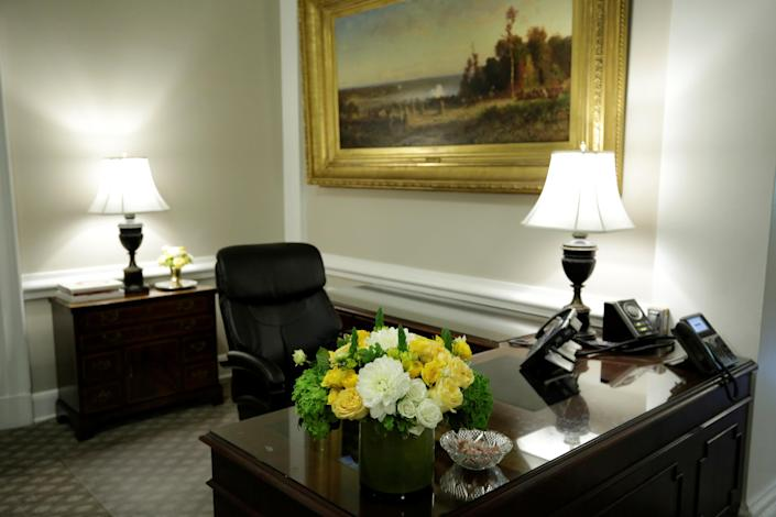 <p>The West Wing lobby of the White House is seen after a renovation in Washington, Aug. 22, 2017. (Photo: Yuri Gripas/Reuters) </p>
