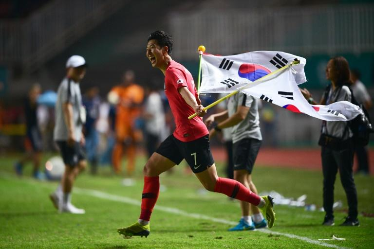 Son Heung-min captained South Korea to the Asian Games football title