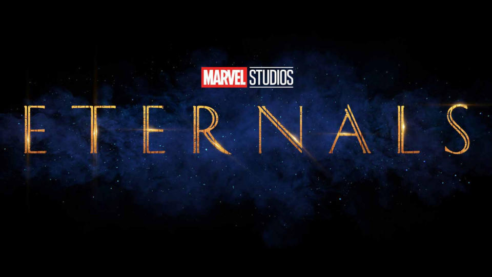 """Perhaps Marvel's biggest swing since that bold <em>Infinity War</em> ending, <em>Eternals</em> is set to introduce a whole new crop of all-powerful superfolks. The titular alien beings — played by the likes of Angelina Jolie, Salma Hayek, Kumail Nanjiani and Richard Madden — have been in hiding on Earth for thousands of years. They reunite to take on foes the Deviants. The movie is also notable as Brian Tyree Henry will play the <a href=""""https://uk.movies.yahoo.com/marvel-gay-superhero-eternals-102545562.html"""" data-ylk=""""slk:MCU's first openly gay superhero;outcm:mb_qualified_link;_E:mb_qualified_link;ct:story;"""" class=""""link rapid-noclick-resp yahoo-link"""">MCU's first openly gay superhero</a>. (Credit: Disney/Marvel)"""