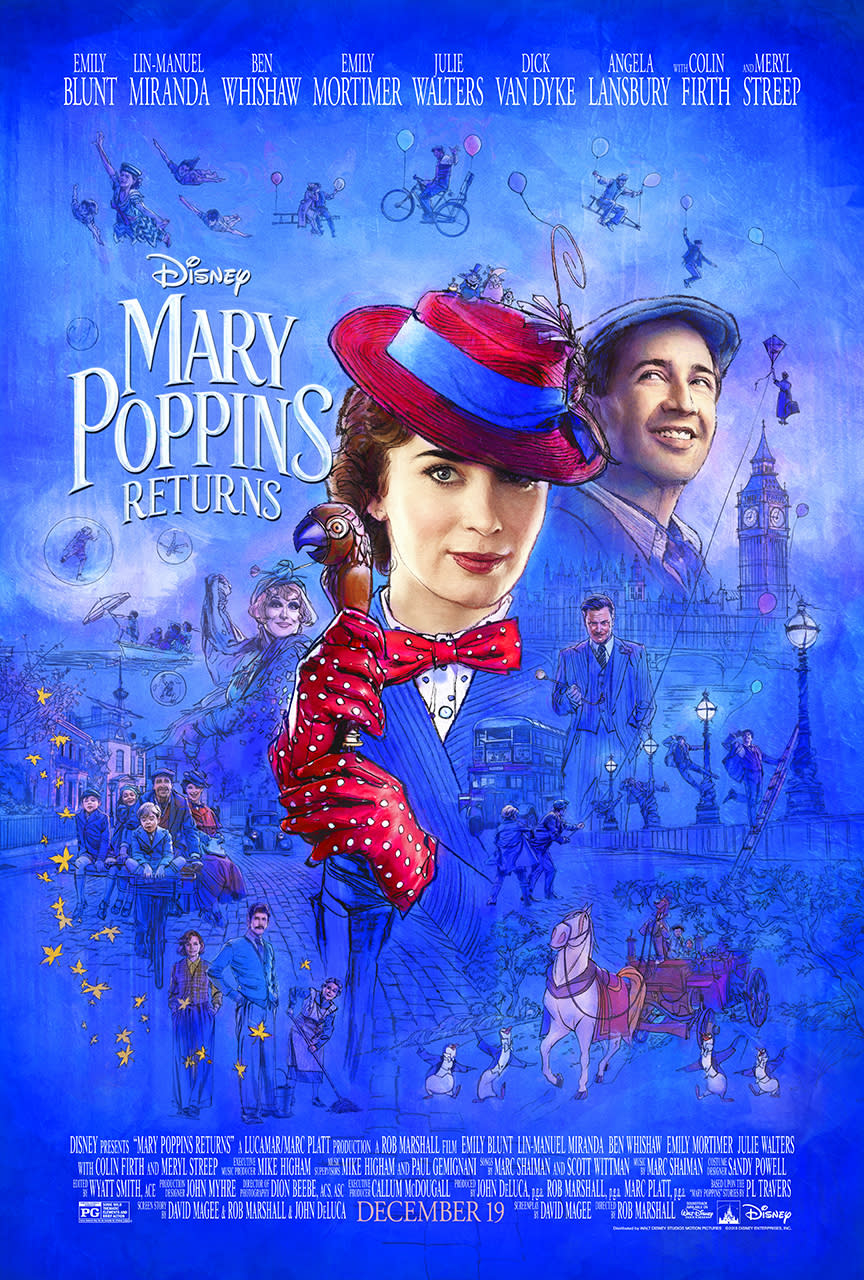 Disney has just released this beautiful new poster for <i>Mary Poppins Returns</i>.