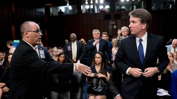 Protests disrupt Senate hearing for Donald Trump's Supreme Court nominee Brett Kavanaugh
