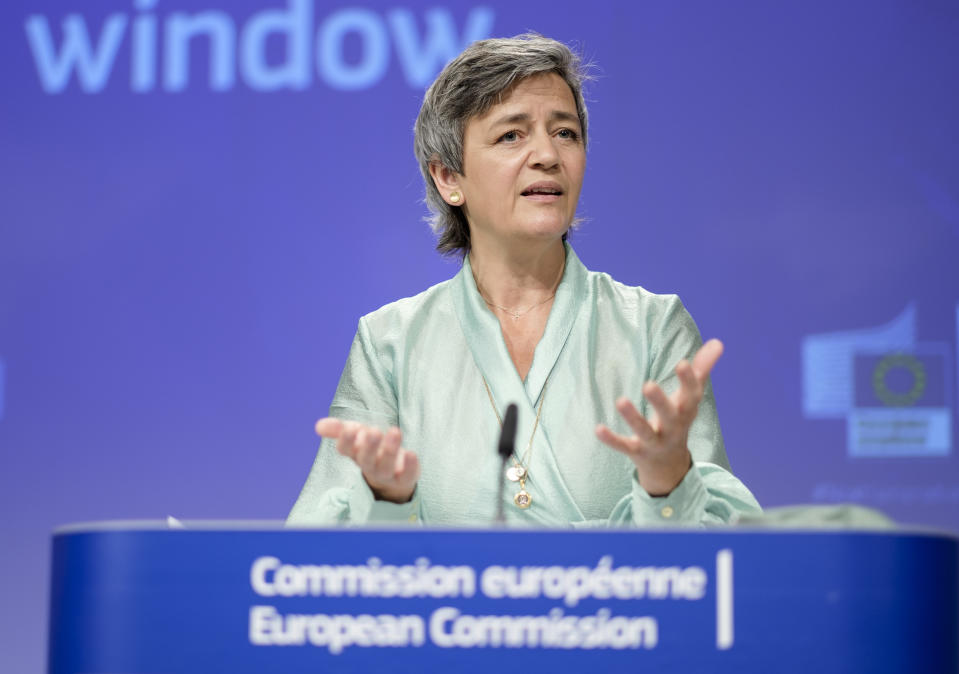 EU competition watchdog executive vice-president Margrethe Vestager. (Thierry Monasse/Getty Images)