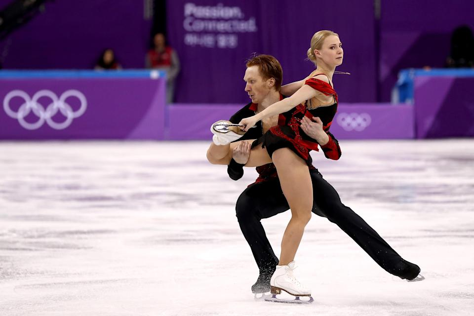<p>Russian pairs figure skating duo Evgenia Tarasova Vladimir Morozov began skating together in 2012 and later became romantically involved. (Getty) </p>
